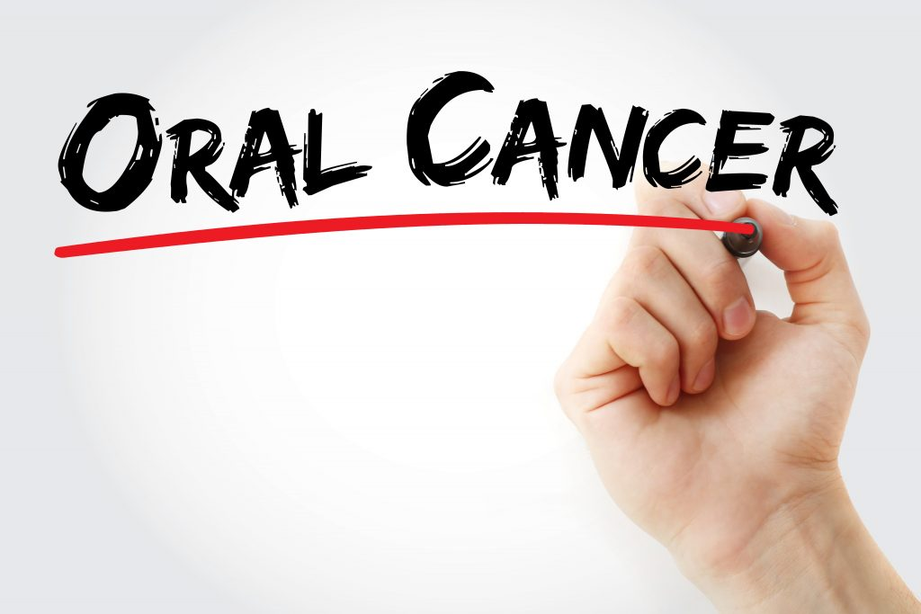 Stop oral cancer message
