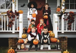 kids dressed up to trick-or-treat